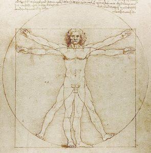 ダ・ヴィンチのウィトルウィウス的人体図