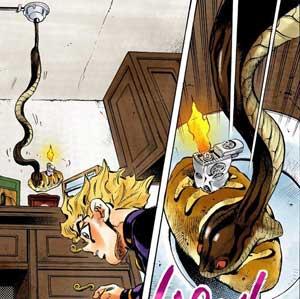 パンを食べる蛇